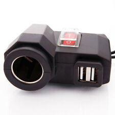 Motorcycle Motorbike 12V Cigarette Lighter USB Power Socket Charger Waterproof