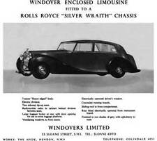 Rolls Royce 1959 - Windover Enclosed Limousine fitted to a Rolls Royce Silver Wr