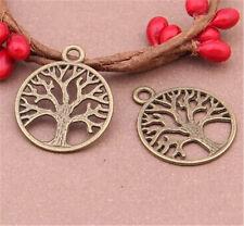 PJ488 20pcs Antique Bronze tree Pendant Bead Charms Accessories wholesale