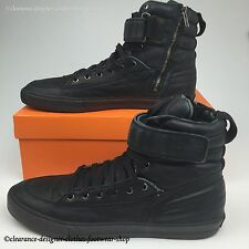 HUGO BOSS ORANGE TRAINERS MENS TRESNO BLACK SNEAKER BOOT SHOE UK 12 RRP £389