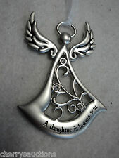 cd A DAUGHTER IS HEAVEN SENT Angel Angels by your side ORNAMENT engraved ganz