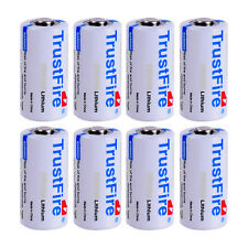 8X TrustFire CR123A 16340 1400mAh 3.0V Non-Rechargeable Li-ion Battery From USA