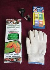 HEALTHY CHEF BAKING MAT-NEW-NON-STICK -4 BONUS-ITEMS-HEAT RESISTANT GLOVE & MORE