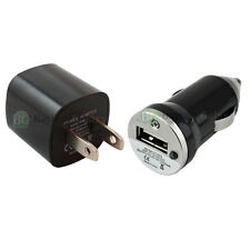 USB Black Universal Battery Wall AC+Car Power Outlet Charger for Cell Phone iPod