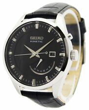 Seiko Kinetic Leather Strap SRN045P2 Mens Watch
