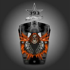 POLARIS RZR 1000 RZR 900S / TRAIL 2014-2015 HOOD GRAPHICS WRAP UNLEASHED ORANGE