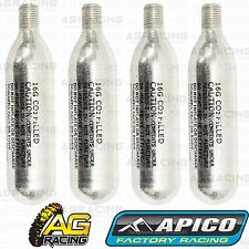 Apico CO2 Cannisters Canisters x4 For Apico Portable Tyre Inflator Black Yellow