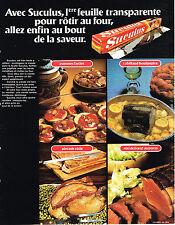 PUBLICITE ADVERTISING 045  1974  SUCULUS    film emballage  alimentaire