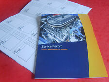 VEHICLE SERVICE BOOK SERVICE HISTORY RECORD LOG BOOK REPLACEMENT CARS ALL MAKES