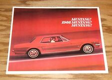1966 Ford Mustang Sales Brochure 66