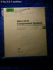 Sony Bedienungsanleitung MHC 701 Mini Hifi Component System (#0974)