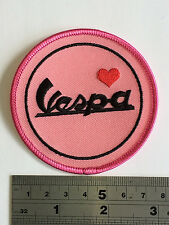 Love Vespa Patch - Embroidered - Iron or Sew On