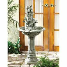 PLAYFUL CHERUBS WATER FOUNTAIN GARDEN OUTDOOR/ INDOOR NEW~33631
