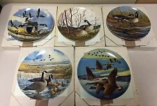 """Donald Pentz """"Wings Upon the Wind"""" Set of 5 Collector Plates Dominion China Ltd."""