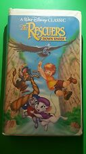The Rescuers Down Under VHS Black Diamon Edition