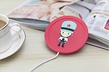 Electric USB Powered Cup Mug Warmer Coffee Drink Heater Beverage Cartoon Cute