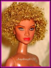 Nude AA integrity Janay doll light afro curly hair for ooak or play