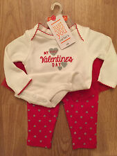 Carter's Newborn My First Valentine's Day Outfit Red Tutu NWT