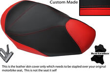 RED & BLACK CUSTOM FITS GILERA NEXUS 500 03-05 FRONT LEATHER SEAT COVER