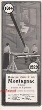 Publicité Tissus MONTAGNAC metier à tisser  vintage  ad  1929