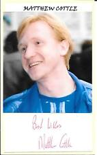 MATTHEW COTTLE - GAME ON - THE WINDSORS - HOLBY CITY - AUTOGRAPH & PHOTO - COA