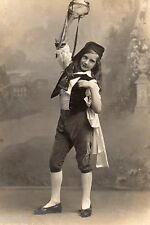 BJ363 Carte Photo vintage card RPPC Enfant danse costume déguisement jeune fille