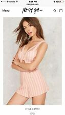 Nastygal Candy Striped Romper!!! Size M. Must See!! Retails $78.00.