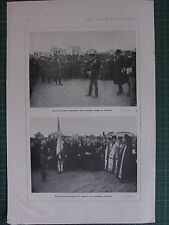 1917 WWI WW1 PRINT GENERAL DANGLIS VENIZELIST TROOPS AT SALONIKA ~ GREEK PRIEST