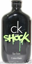 TST CK One Shock by Calvin Klein for Him (TSTR BOX) 6.7 / 6.8 oz Edt Spray New