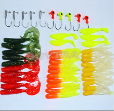 Style Soft Fishing Lures Bait Tackle Mini Jig Head Box Set Simulation Suite JXUK