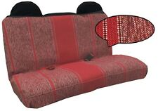 Pickup Truck Front Bench Seat Cover Burgundy Red Superior Grade Saddle Blanket