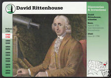 DAVID RITTENHOUSE Scientist Biography History GROLIER STORY OF AMERICA CARD