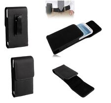 Leather Flip Belt Clip Metal Case Holster Vertical para =  MYSAGA C1