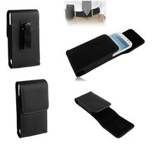Leather Flip Belt Clip Metal Case Holster Vertical para =  Acer Liquid E2 Duo