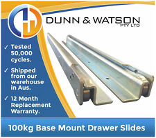 800mm 100kg Base Mount Drawer Slides / Fridge Runners - 4wd 4x4 Cargo Trailers