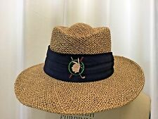 VINTAGE MENS STRAW HAT ONE SIZE BY Town Talk Since 1919 Made in the USA FAST TAB