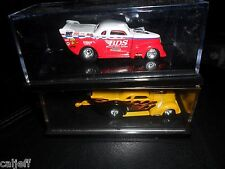 2  TRUCK LOT 1937 PRO MOD CHEVY BDS 100% HOT WHEELS  REAL RIDERS 1:64 & YELLOW