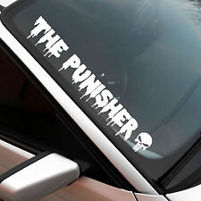 The Punisher XXL FRONT dischi adesivi sticker JDM OEM AUTO ADESIVO SKULL