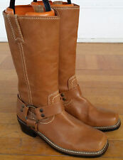 Rampage Womens Size 6.5 Boots 6 1/2 Brown 37 Motorcycle Biker Harness Boot Urban
