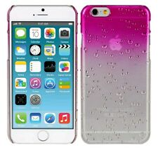 "CARCASA FUNDA DURA TRANSPARENTE / ROSA 3D para APPLE IPHONE 6 / 6S 4,7"" case"