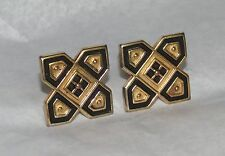 "Vintage Mens Jewelry Cufflinks Gold Tone Signed "" A """