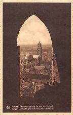 BR55816 panorama pris de la tour du Beffroi Bruges belgium