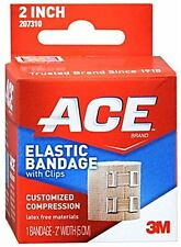 ACE Elastic Bandage With Clips Customized Compression 2 Inches 1 Each (9 pack)