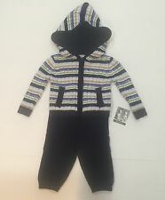 Piper & Posie Baby Boy Knit Pants & Hoodie Set Size 3-6M