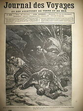 JOURNAL DES VOYAGES 268 INDE CHASSE TIGRE EGYPTE LE CAIRE CANAL MAHMOUDIEH 1882