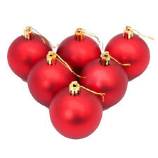 6PC Christmas 5cm Tree Hanging Decoration Ball Xmas Festival Ornament Gift Red