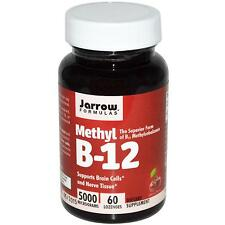 Jarrow Formulas Vitamin B-12 - 60 - 5000mcg Lozenges - Cherry Flavour Methyl B12