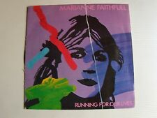 """MARIANNE FAITHFULL : Running for our lives 7"""" 45T 1983 French ISLAND 811 411"""