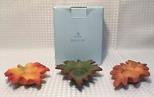 Partylite Candle Holder Whispering Leaves Tealite Trio Fall Leaves For Tealites