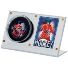 (3) Ultra Pro Acrylic Clear Hockey Puck & Card Holder Displays - NEW